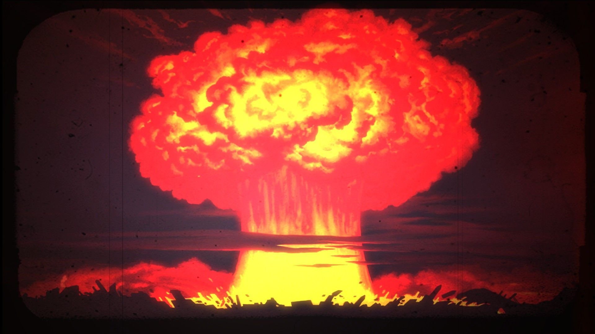 Nuclear Mushroom Cloud for Vault 17 Fallout Shelter